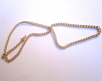 Gold 2MM curb chain 30CM