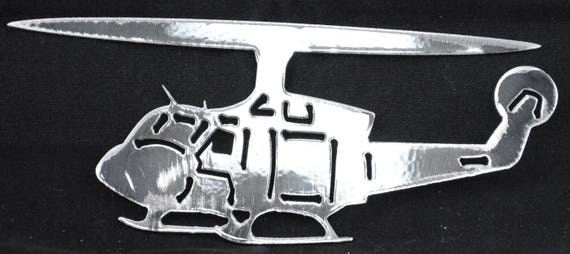 2 Blade Helicopter, Metal Helicopter, Helicopter Metal Wall Art, Copter Pilot Gift, Aviation, Novelty Gift, Novelty Art, Gift for Dad or Mom