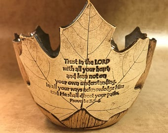 Small Scripture Maple Leaf Bowl 57