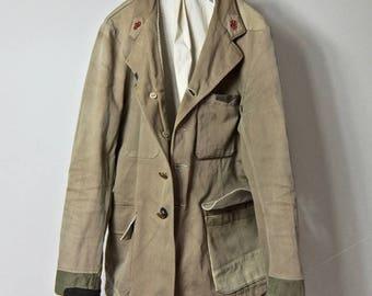1950-1960 Vintage ALTERATION Old French Postal Company  PTT's Postal Jacket