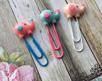 Elephant Paper Clip / Planner Clip/ Planner Accessory / Paperclip  / Resin Paper Clip