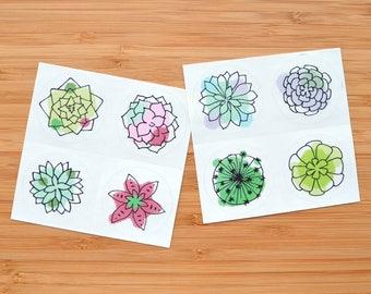 Succulent Sticker Squares