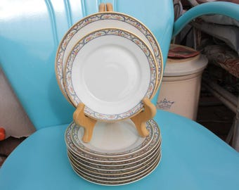 1893 - 1903 Theodore Haviland Limoges France - Schleiger 859 - Eight (8) Salad Plates and Two (2) Bread and Butter - Excellent Condition