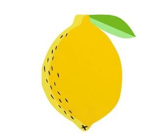 Lemon Napkins,Lemonade Stand, Lemonade Party,Lemon Party Napkins, Lemon Party, Fruit Party, Lemons, Fruit Party Supplies,Fruit Party Napkins