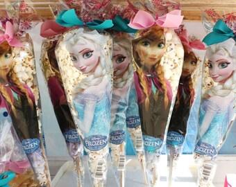 Cone door popcorn themed bags Frozen set of 10 pieces