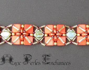 Beaded Tango bracelet Tutorial in English