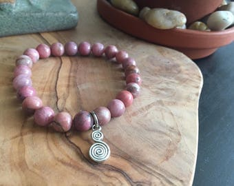 Rhodonite Crystal Bracelet