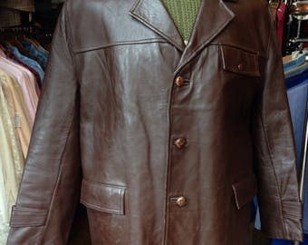 1940s/50s brown leather jacket