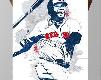 David Ortiz, Big Papi, Boston Red Sox, Sports Poster, Fan art, Sports wall art, Baseball posters, Sports art