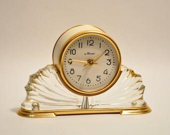 Vintage Mantel Collectible mechanical Clock Mayak USSR, Art deco clock, Table clock