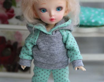 Outfit for BJD - Hoody and leggings for PukiFee by Fairyland