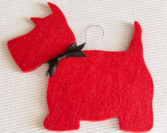 Christmas decor Scotish terrier - pack of 2