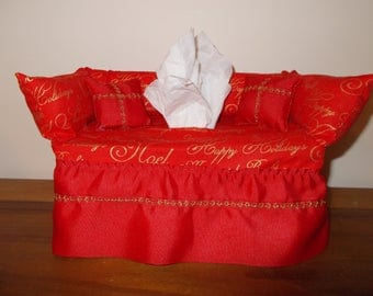 Holiday greetings couch tissue box cover. & Etsy :: Your place to buy and sell all things handmade Aboutintivar.Com