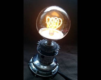 Lamp made out of old bike parts