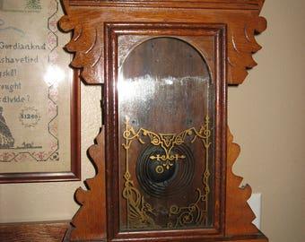 Gingerbread Antique Hadley Waterbury Clock Company Empty Clock Case Wood Star
