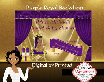 popular items for baby throne chair see all royal prince backdrop backdrop prince in gold purple banner candy table
