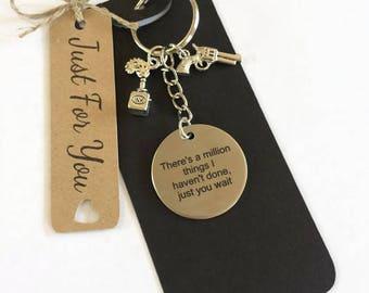 Hamilton Theme Gift Keyring