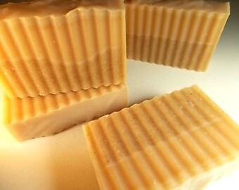 Oatmeal, Milk & Honey Soap - Artisan, Cold Process - Oats, New Hampshire Wildflower Honey - Handmade