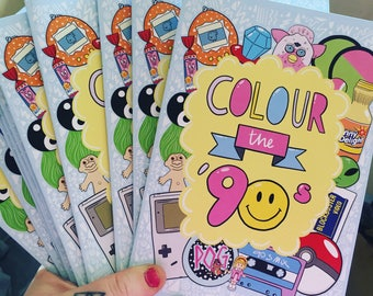 Colour the 90s Mini Colouring Book