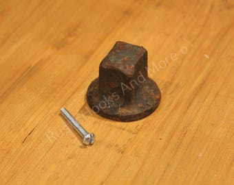 Railroad Spike Cabinet Knob. Railroad Spike Drawer Pull. Railroad Screw Spike Cabinet Knob.