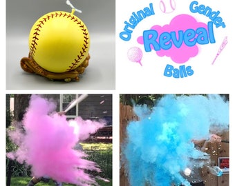 3 Exploding Softballs Gender Reveal Combo: Blue, Pink, and Practice Ball