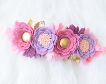 Pink Purple Fairy Flower Crown