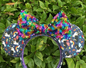 Tri Unicorgi Rainbow Mouse Ears