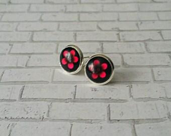 Pink Flower Stud Earrings, Pink Flower Earrings, Gifts for her, Stud Earrings, Hypoallergenic, Flower Earrings, Daisy Earring, 10mm, Pink