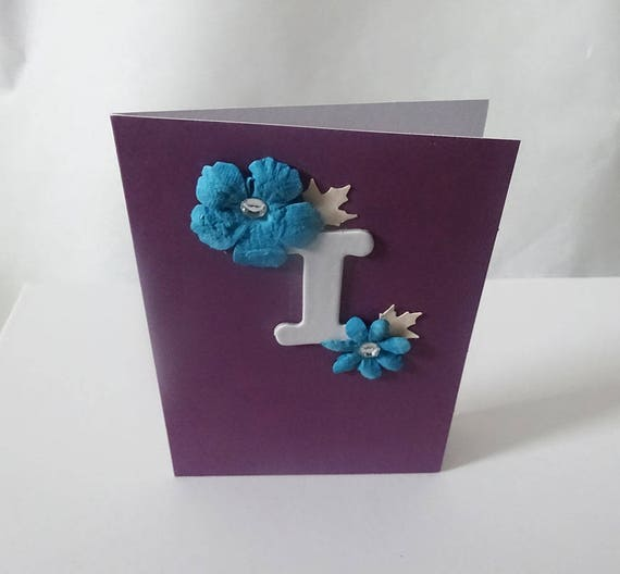 "Monogram/Initial Card - Letter ""I"""