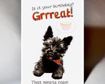 Birthday Hopeful Doggy Card WWBI134