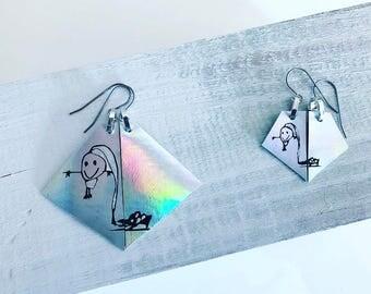 Custom Matching Leather Earrings Set (Large & Mini)