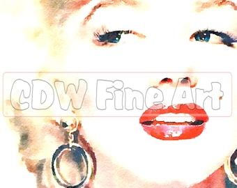 Marilyn Monroe - Limited Edition Print of my original Water Colour Painting