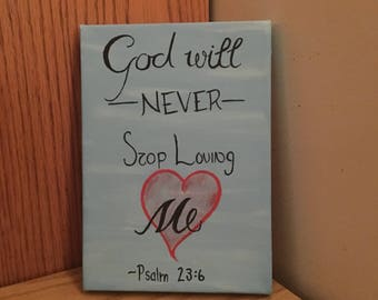God's love bible verse, Psalm 23:6