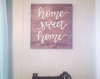 Wood sign, wooden sign, home sweet home sign, rustic decor, rustic sign, farmhouse sign, home sweet home wooden sign, rustic wooden sign