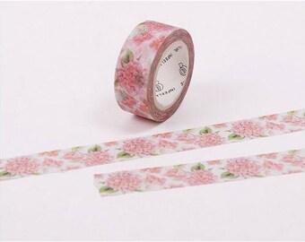 Masking tape fleur rose 7m