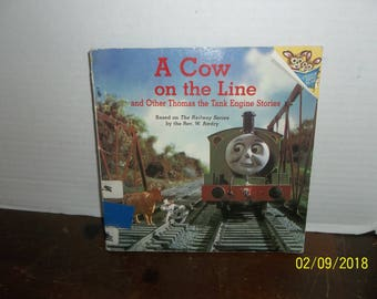 vintage 1992 thomas the tank engine a cow on the line book