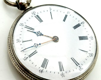 Mid-late 1800s French silver 8-ruby pocket watch...via Villereal