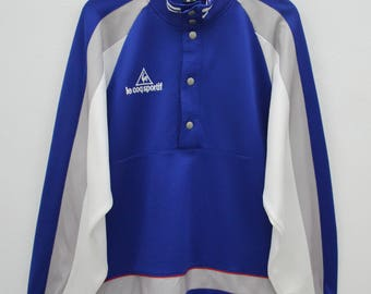 Le Coq Sportif Track Top Vintage 90's Le Coq Sportif Track Top Half Button Sweater Jacket Size LL