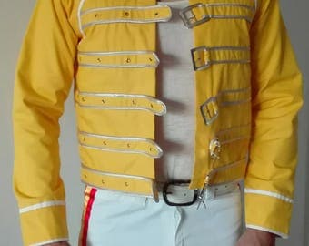 Freddy Mercury Full Costume Yellow Jacket