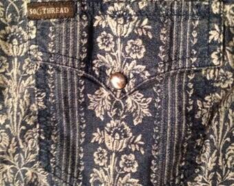 SOUTHERN THREAD brand pearl snap shirt