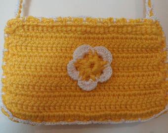 Girls yellow and white bag