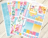 Love Song | Mini Planner Sticker Kit, Personal Kit, TN Stickers, Hummingbird, Floral, Flowers, Tropical, Music Notes, Summer, Spring