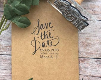 WEDDING STAMP, save the date, CALLIGRAPHY Rubber Stamp, custom stamp, wedding stamp, wedding invitation stamp, wedding Rsvp, wedding