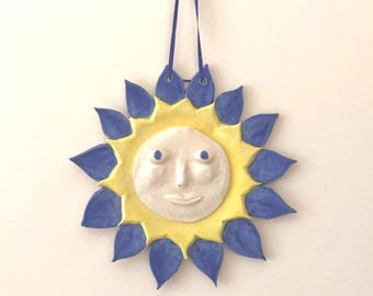 Sun Wall Plaque Ceramic Pottery