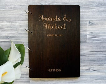 Wedding Guest Book Wedding Guestbook Bridal Shower Gift Custom Guest Book Polaroid Guest Book Personalized Guestbook Calligraphy Guestbook