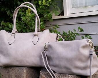 Monogram 2pc purse in beige  Personalized handbags- The Kelly