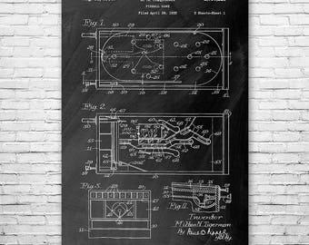 Pinball Game 1936 Poster Patent Print Gift, Pinball Poster, Pinball Wall Art, Pinball Machine, Pinball Machine Patent, Arcade, Gaming Gift