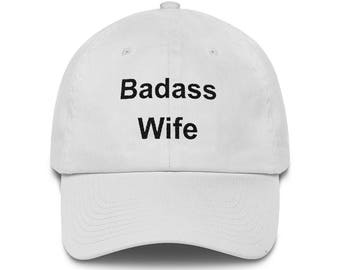 Badass Wife Hat, Low Profile Embroidered Wife Cap, Gift From Niece, Gift From Nephew, Wife Gifts, Funny Wife Gifts, Wife Hat, Wife Cap