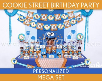 Cookie Street Birthday Party Package Collection Set Mega Personalized Printable // Cookie Street - B48Pz2