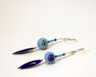 Jasmine blue sky blue earrings
